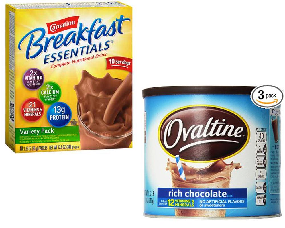 Carnation Instant Breakfast vs Ovaltine