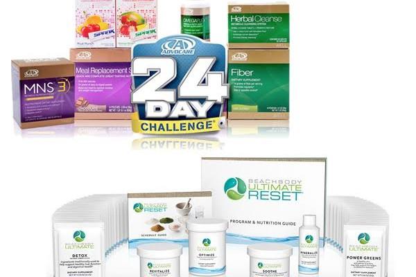 Advocare 24 Day Challenge vs Beachbody Ultimate Reset