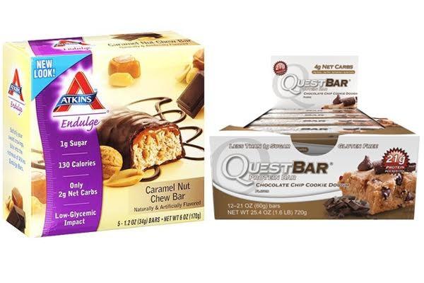 Atkins Bars vs Quest Bars