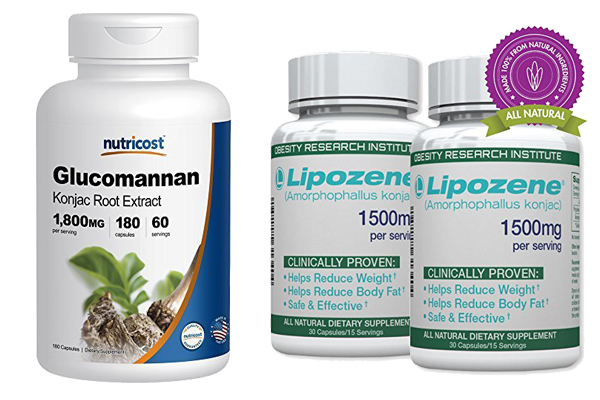 Glucomannan vs Lipozene 1