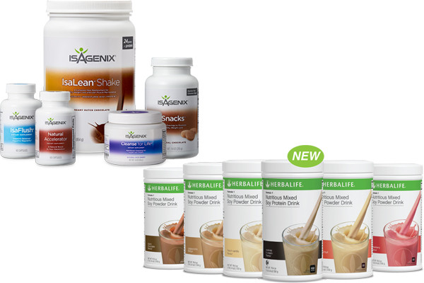 Isagenix vs Herbalife 1