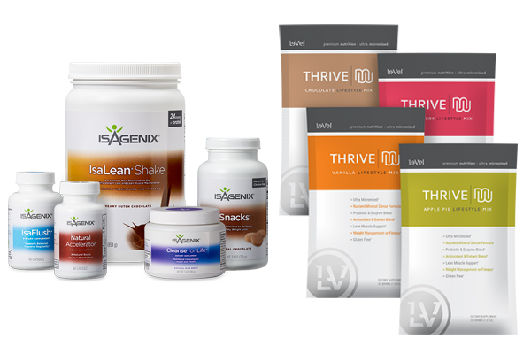 Isagenix vs Thrive 1