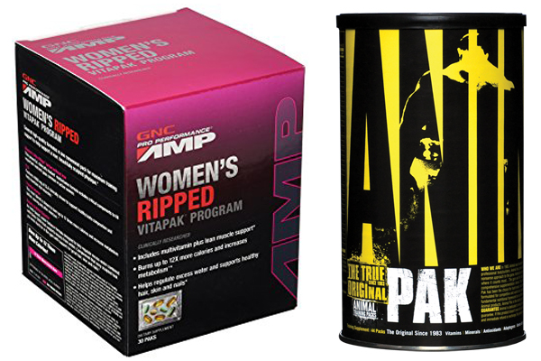 GNC Ripped Vitapak vs Animal Pak