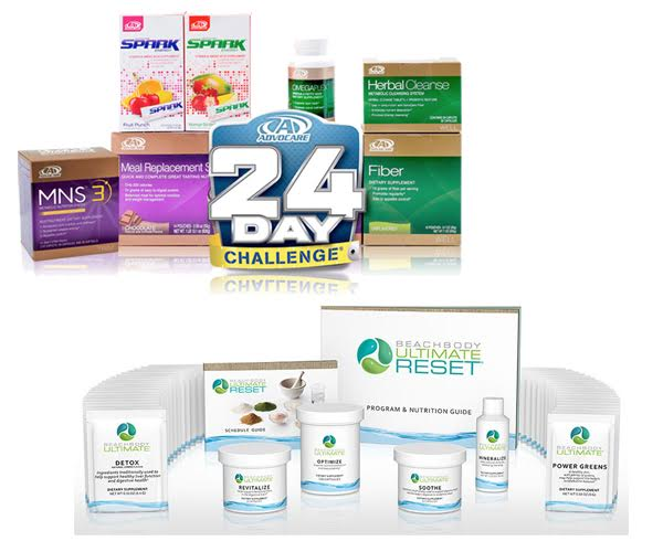 Advocare 24 Day Challenge vs Beachbody Ultimate Reset