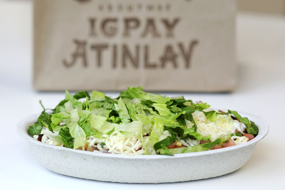 A Chipotle burrito bowl on display. Tina Russell/ The Penny Hoarder