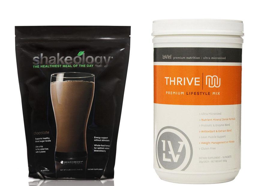 Shakeology vs Thrive 1