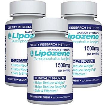 Glucomannan vs Lipozene 3